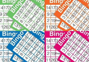 Bingo Card Background - Kostenloses vector #302627