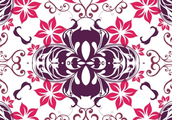 Pink flower pattern background - vector gratuit #302637