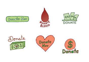 Free Donate Icon Vector Series - Kostenloses vector #302657