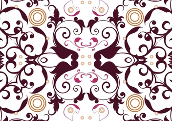 Abstract Floral Seamless Vector - Free vector #302727