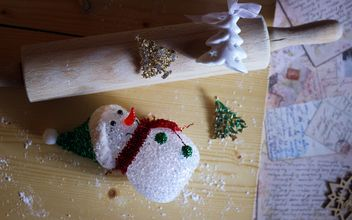 Christmas snowman decoration - image #302757 gratis