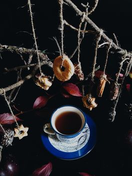 Black tea and cookies - image #302867 gratis