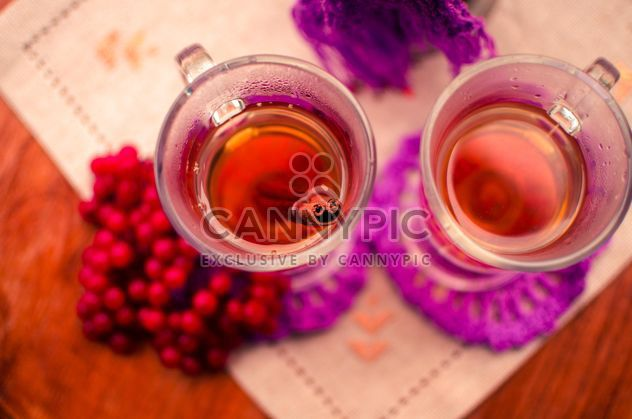 warm tea outdoor with vibrunum - Free image #302927