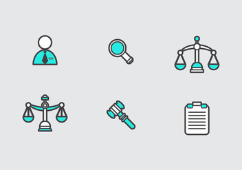 Free Law Office Vector Icons - бесплатный vector #303027