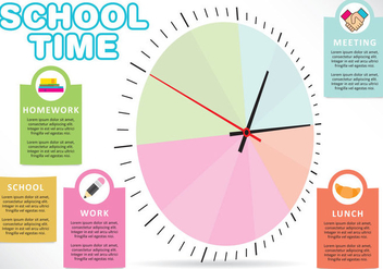 School Time Vector - vector #303037 gratis