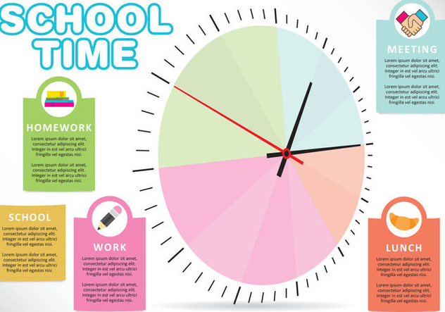 School Time Vector - vector gratuit #303037