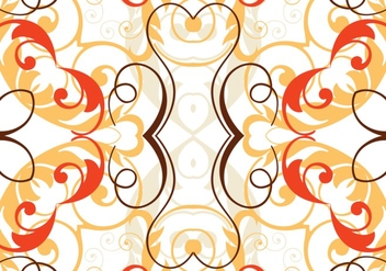 Orange Swirl Background Vector - Kostenloses vector #303047