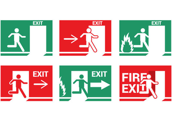 Fire Emergency Exit Vector - vector gratuit #303067
