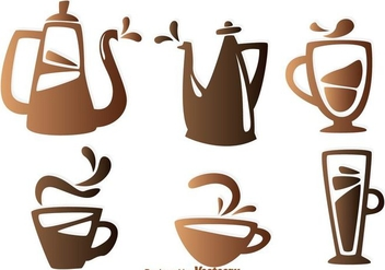 Coffee Element Icons - vector gratuit #303117