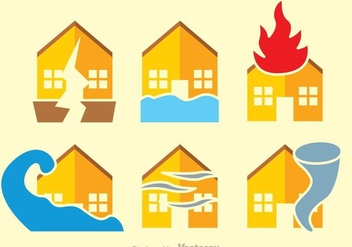 Natural Disaster Flat Vectors - Free vector #303137