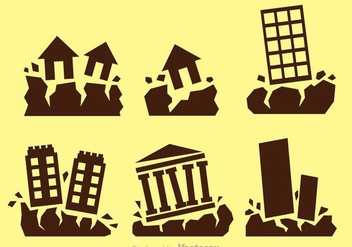 Earthquake Vector Icons - Kostenloses vector #303147
