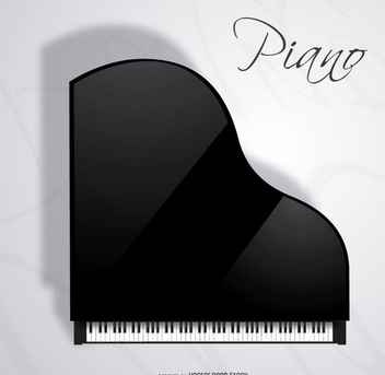 Concert Grand Piano top view - Free vector #303177