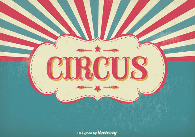 Vintage Circus Illustration - Free vector #303447