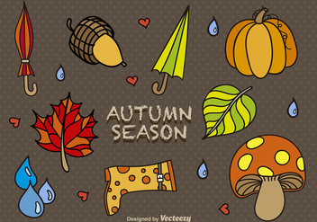 Cartoon autumn elements - vector #303487 gratis