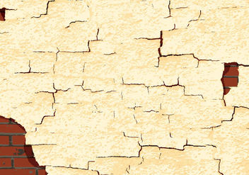 Cracked paint texture wall vector - Free vector #303507