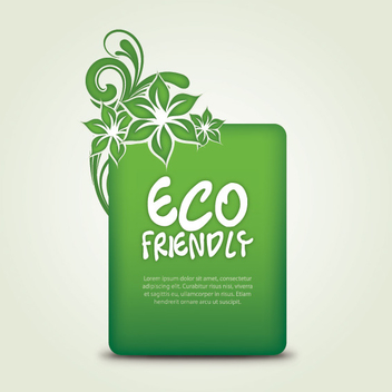 Swirling Eco Friendly Banner - vector gratuit #303727