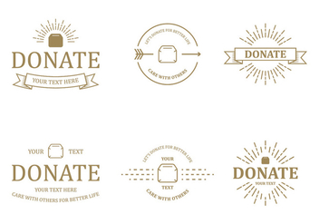 Donate Badge Vectors - Free vector #304167