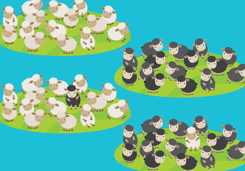 Sheep Herd Vectors - Kostenloses vector #304277