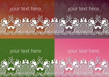 Abstract Lace Ribbon Vectors - vector #304297 gratis