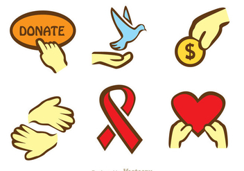Donate Hand Icons - vector #304397 gratis