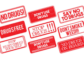 No Drugs Stamp Vector - Kostenloses vector #304407
