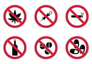 Free No Drugs Vector Icon - vector gratuit #304907