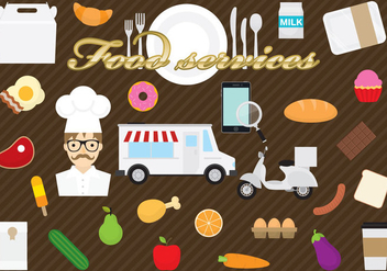 Food Services - vector gratuit #304917