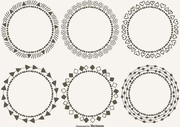 Cute Decorative Frames Set - vector gratuit #304927