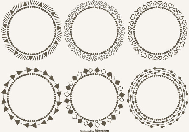 Cute Decorative Frames Set - Free vector #304927