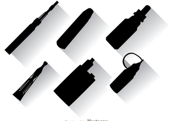 Vape Black Icons - vector #304987 gratis