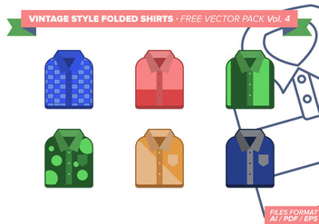 Vintage Folded Shirts Free Vector Pack Vol. 4 - Free vector #305037