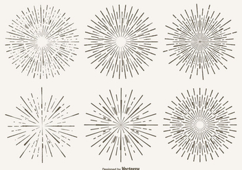 Vintage Starburst Shape Set - Free vector #305057