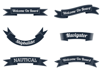 Nautical Ribbon - vector gratuit #305067