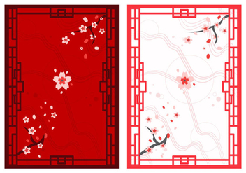 Free Beautiful Japanese Ornaments - Kostenloses vector #305137