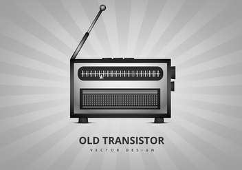 Old transistor radio vector - бесплатный vector #305167