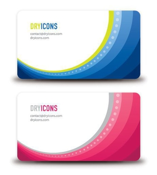 Round Frame Waves Business Card - бесплатный vector #305327