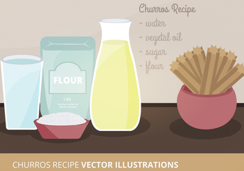 Churros Recipe Vector Illustration - vector gratuit #305467
