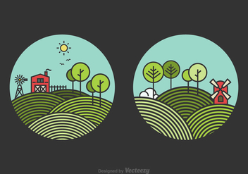 Free Line Rolling Hills Landscape Vector - Free vector #305487