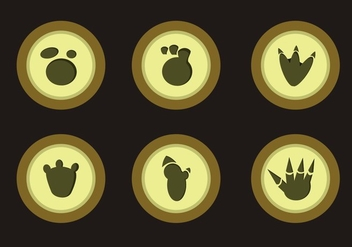 Cartoon Dinosaur Footprints - Free vector #305507