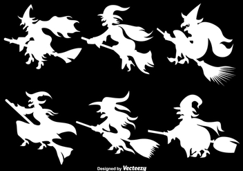 White Witches silhouettes - Kostenloses vector #305547