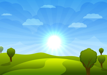 Cartoon Landscape Vector - Free vector #305577