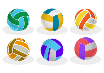 Volleyball vector - vector gratuit #305587