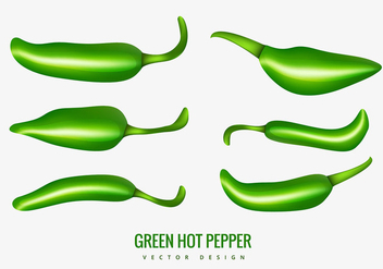 Green hot pepper - vector gratuit #305607