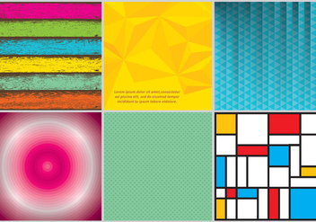 Colorful Backgrounds - vector gratuit #305627