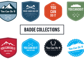 You Can Do It Badges - vector gratuit #305817
