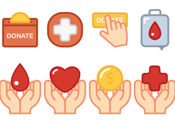 Donate Icon - vector #305827 gratis