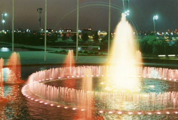 Fountain at JFK airport, 1967 - image #307897 gratis