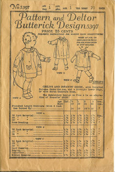 Very Old Baby Dress Pattern - image #309647 gratis