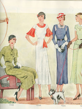Chic 1933 women's fashions - бесплатный image #314117