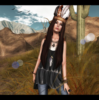 Tee*fy Aurelia Summer High-Low Dress Black Tie Dye & Feather Crown Headband RARE for The Arcade and Leverocci - Diva_Golden Brown - image gratuit #315607